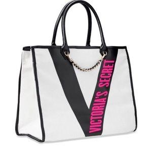 Victoria's Secret Ribbon Logo City Tote